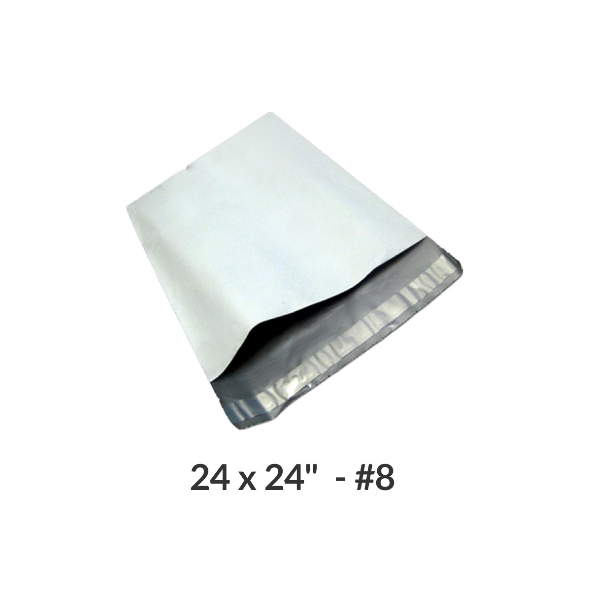 """100 Poly Mailers Bags 24x24"""" #8 Pouches Envelopes White Self-Sealing by Uboxes"""