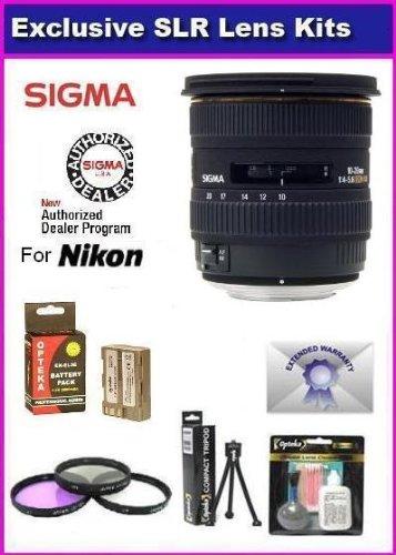Sigma 10-20mm f 4-5.6 EX DC HSM Lens for The Nikon D700, D300, D200, D100, D90, D80, D70, D70s, & D50 Includes... by Sigma