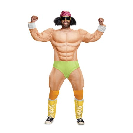 wwe macho man muscle adult halloween costume