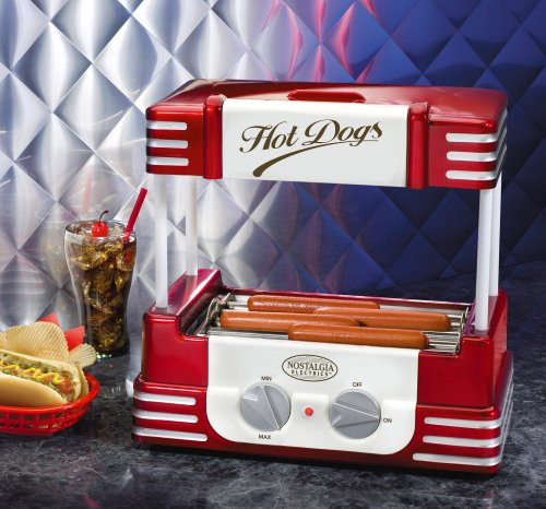 Nostalgia RHD800 Retro Series Hot Dog Roller with Bun Warmer