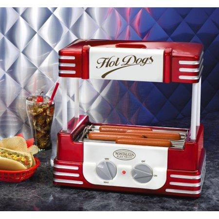 Nostalgia Rhd800 Retro Series Hot Dog Roller With Bun Warmer