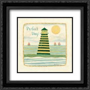 Perfect Day 2x Matted 20x20 Black Ornate Framed Art Print by DiPaolo, Dan