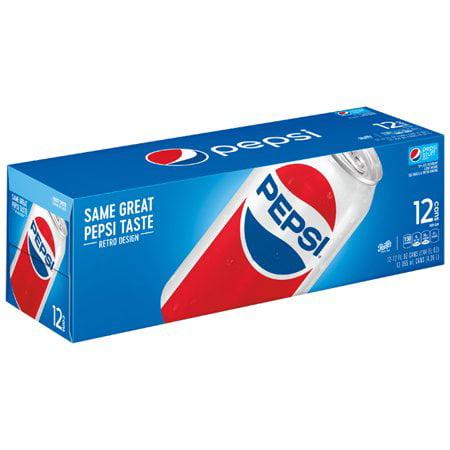 (3 Pack) Pepsi Soda, 12 Fl Oz, 12 Count