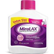 2 Pack - Miralax  Powder Laxative, 45 Doses 26.9 oz