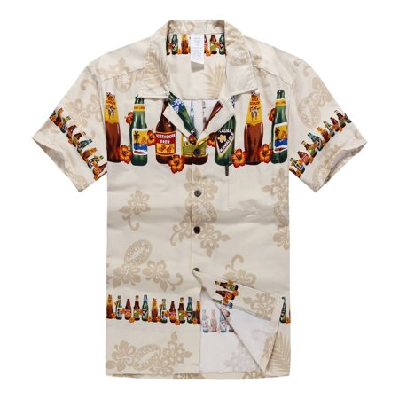 Hawaiian Shirt Aloha Shirt in Tan Brew](Hawaiian Skirt)