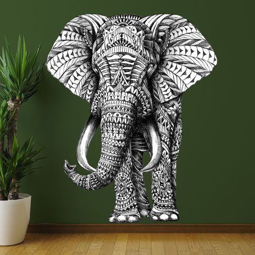 My Wonderful Walls Ornate Elephant by BioWorkZ Wall Decal