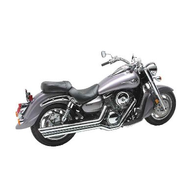 Vance   Hines  Big Shots Staggered Exhaust Chrome 18309