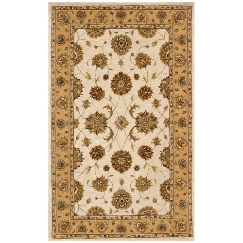 Dynamic Rugs Jewel 70230 Pom Persian Rug - Ivory/Gold