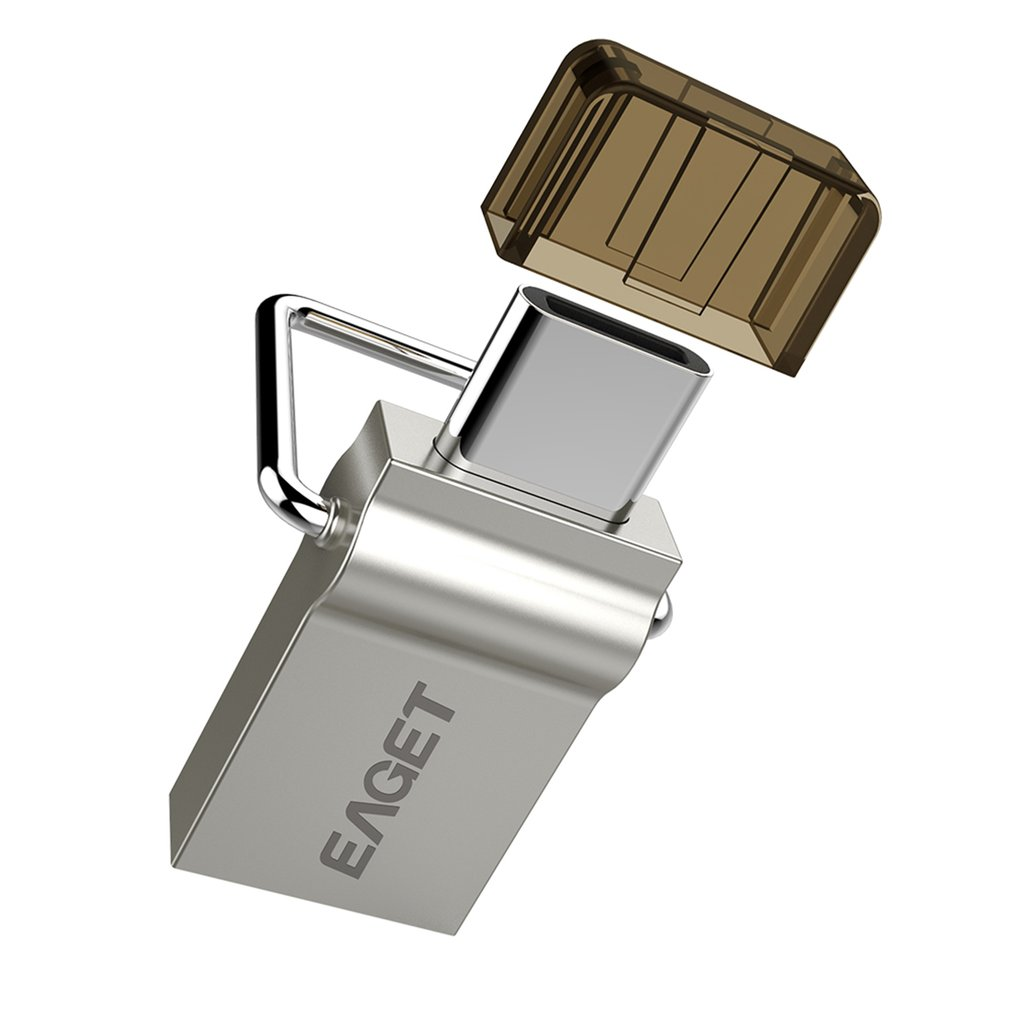 EAGET CU10 Type-C USB 3.0 Flash Drive Micro USB OTG Pendrive Smart Phone Pen Drive Dual Purpose U-Disk For PC Phone