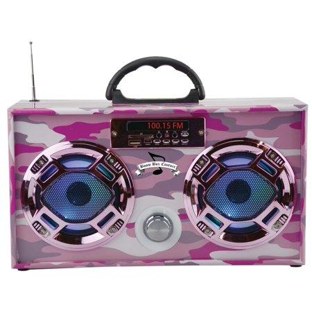 Mini Pink Camo Boombox