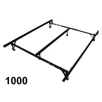 Sleep Therapy 40 MM Angular Steel Bed Frame (Extends to Fit Full, Queen, and King Beds)