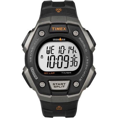 Timex Mens Ironman Classic 30 Full Size Watch  Black Resin Strap