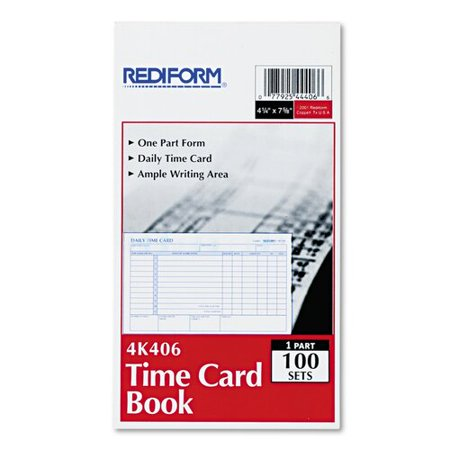 Rediform Time Card - REDIFORM OFFICE PRODUCTS                           Employee Time Card