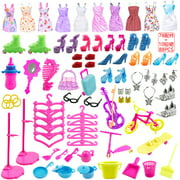 88-Piece Set Dress-up Set Gift Box Lele Barbie Doll Accessories Clothing General Toys