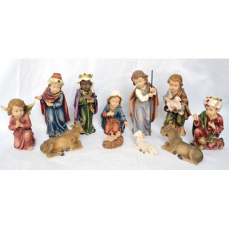 11 Piece Colorful Childrens Christmas Nativity Set Holiday Decoration](Christmas Nativity Set)