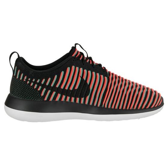 8cb776692a6e2 Nike - Mens Nike Roshe Two Flyknit Black Bright Crimson Clear Jade ...