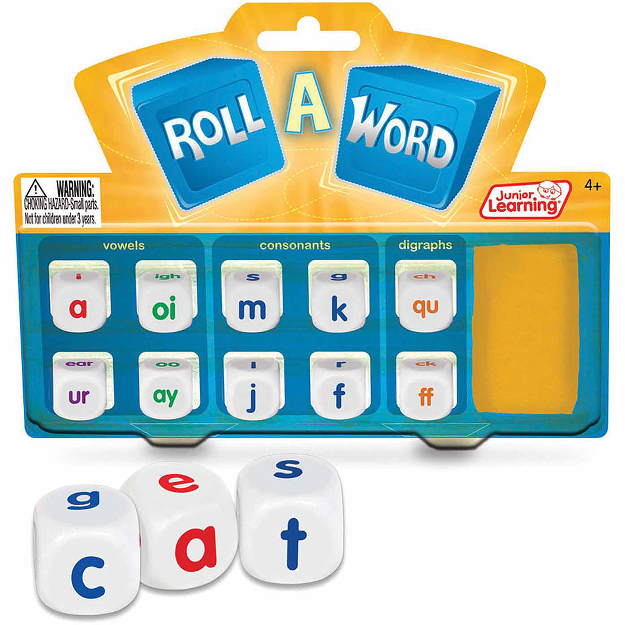 Junior Learning Roll a Word Game, Develop Spelling and Word Formation!