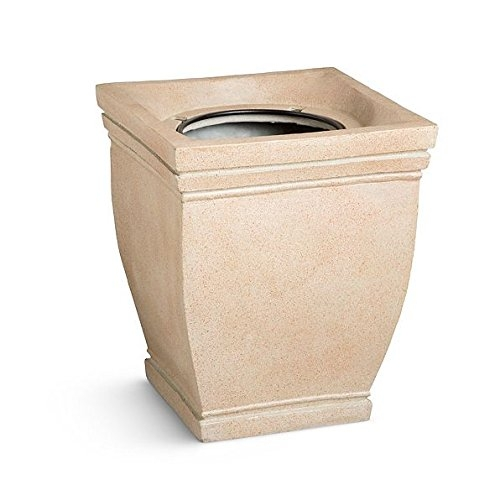 Tuscany Square Topiary Planter Urn (Sand) by DermaPAD