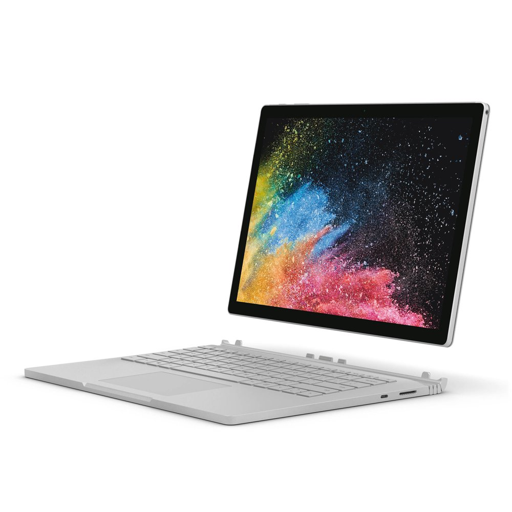 Microsoft CR7-00001 Surface Book, 16GB Memory, 512GB HDD, Intel Core i7-6600U, NVIDIA GeForce graphics, Silver, Windows 10 Professional