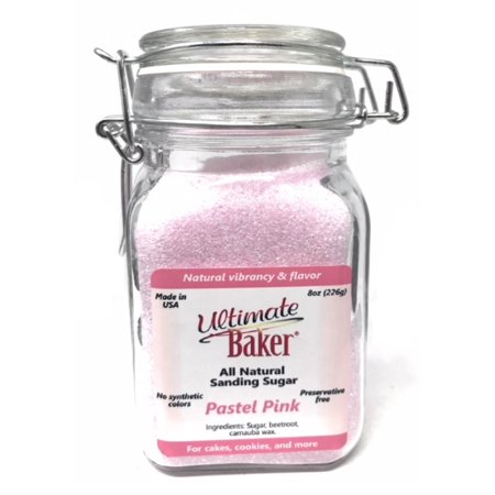 Ultimate Sugar (Ultimate Baker Natural Sanding Sugar (Fine Crystals) Pastel Pink (1x8oz Glass) )