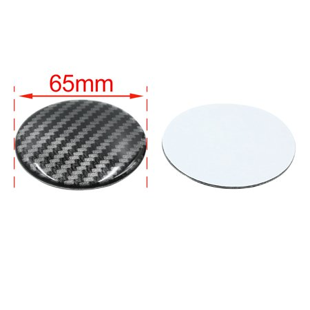 65mm Car Wheel Center Hub Cap Sticker Emblem Badge Carbon Fiber Pattern 4pcs - image 2 de 2