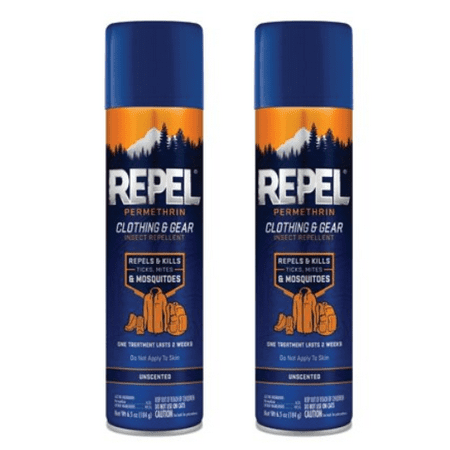 (2 pack) Repel Permethrin Clothing & Gear Insect Repellent, Aerosol, 6.5-oz
