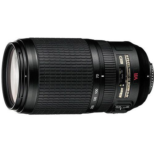 Nikon Nikkor 70-300mm Telephoto Zoom Lens features VR image Stabilization f/4.5-5.6G, AF-S, IF-ED (#2161)