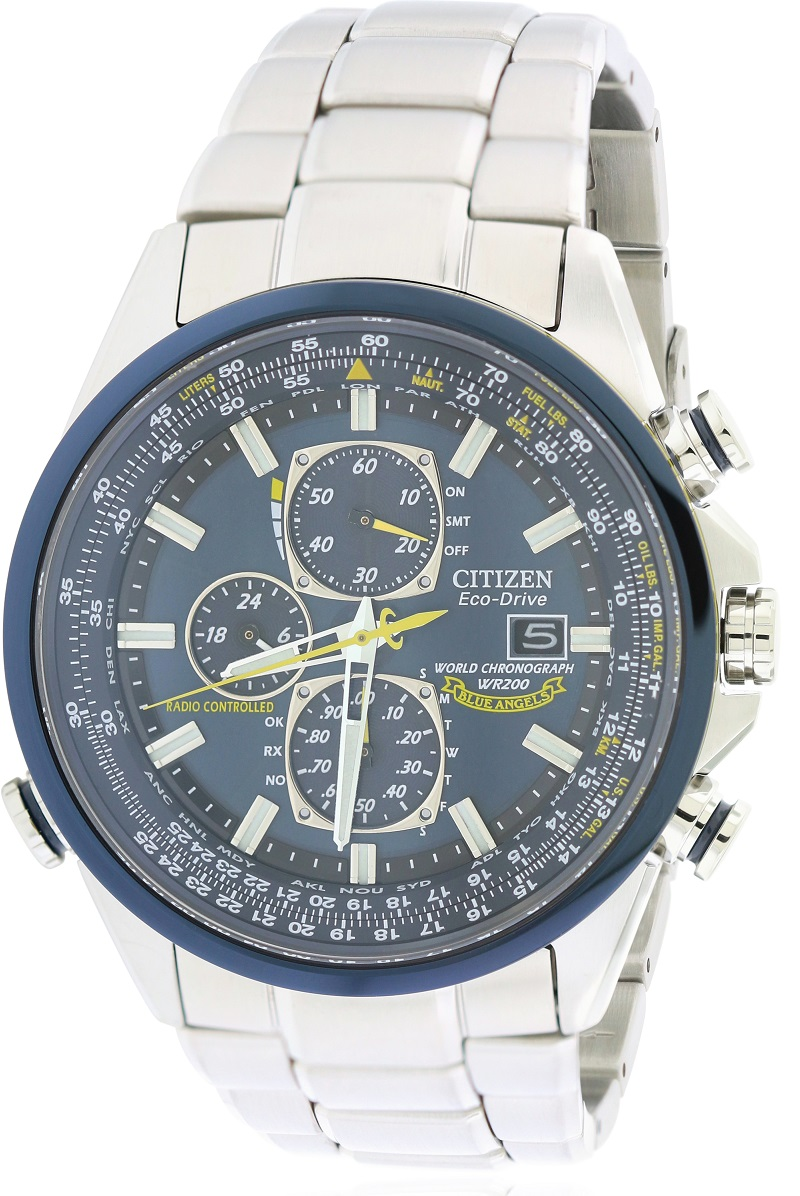 Citizen Eco-Drive Blue Angels Chronograph Atomic Men's Watch, AT8020-54L