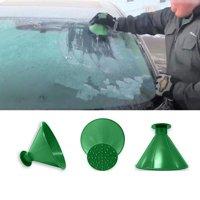 Scrape A Round Magic Cone-Shaped Windshield Ice Scraper Snow Shovel Tool