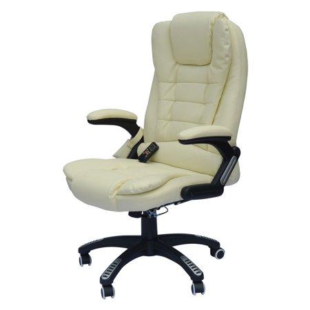 Homcom Executive Ergonomic Pu Leather Heated Vibrating Mage Office Chair