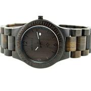 BEWELL High-quality Brand Fashion Wood Quartz Watch Water-resistant Luminous Men Women Ebony Wooden Casual Wristwatch with Calendar