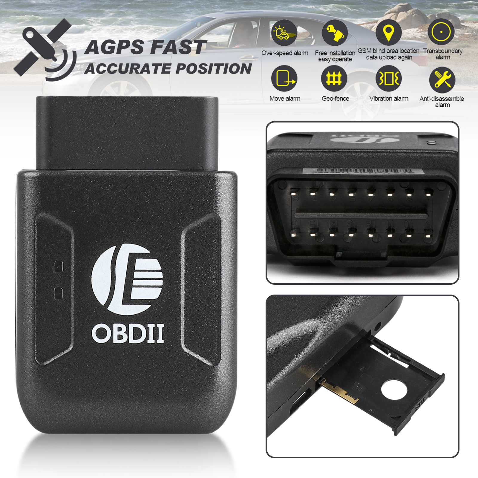 EEEkit Mini Portable Real Time Personal and Vehicle GPS Tracker for Tracking Assets, Equipment, and Vehicles