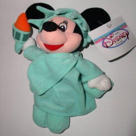 Disney Minnie Mouse As Lady Liberty   Mini Bean Bag