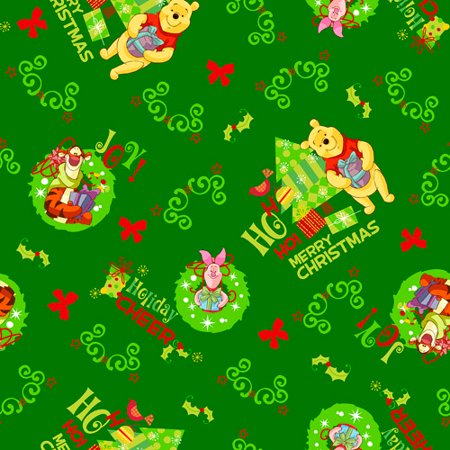 Disney Christmas Fabric By The Yard.Springs Creative Seasonal Disney Pooh S Christmas 100 Cotton Fabric By The Yard