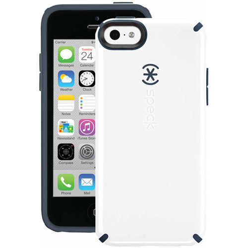 SPK-A2242 CandyShell Case for iPhone 5c - White/Charcoal Grey