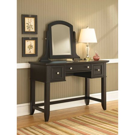 home styles bedford vanity table and mirror black