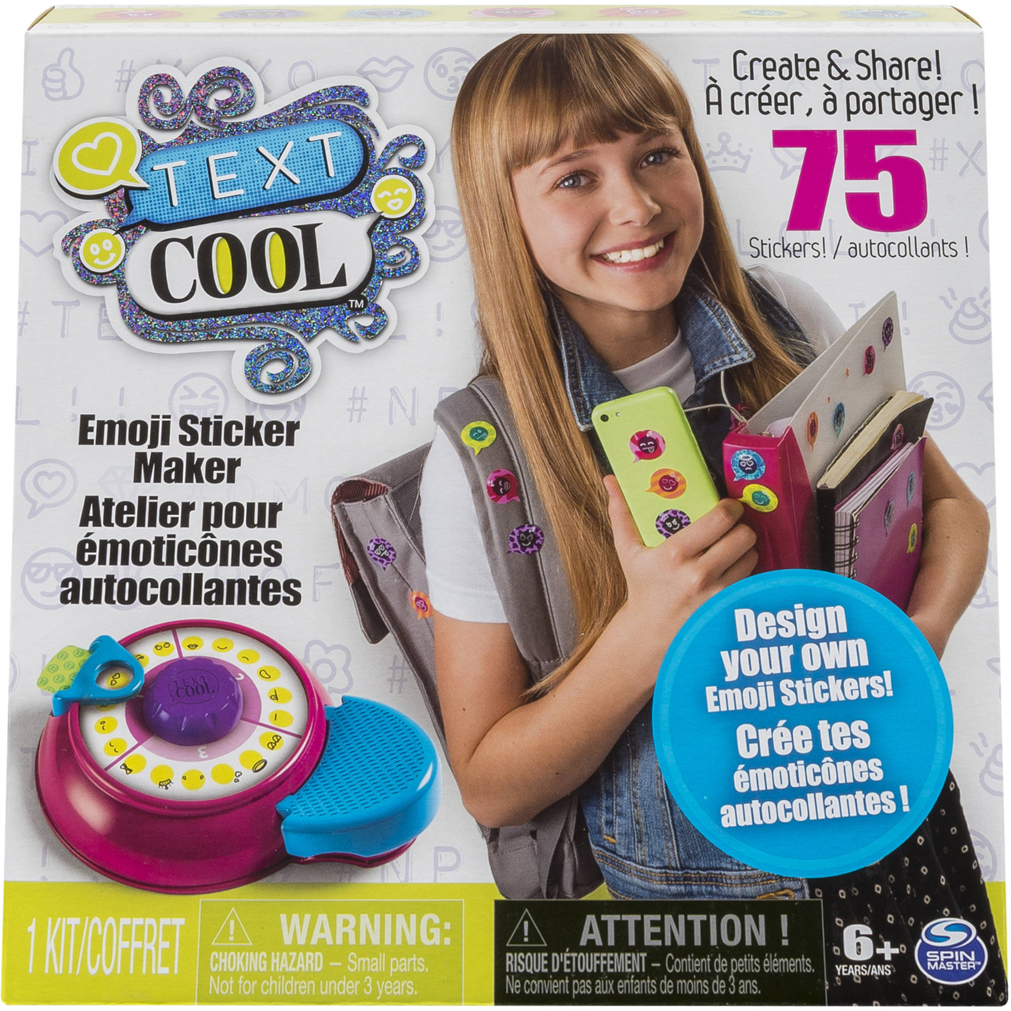 Text Cool, Emoji Sticker Maker Kit - Walmart.com