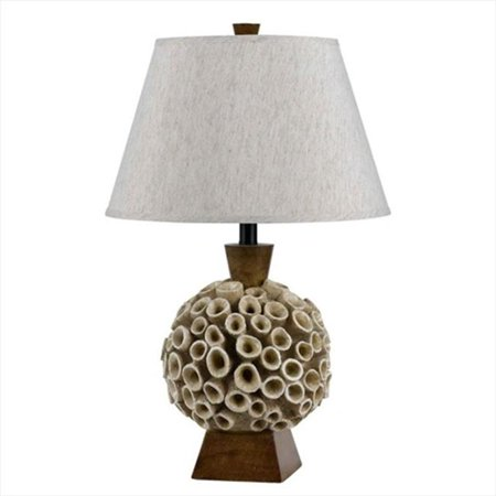150 W Coral Resin Table Lamp (Resin Coral)