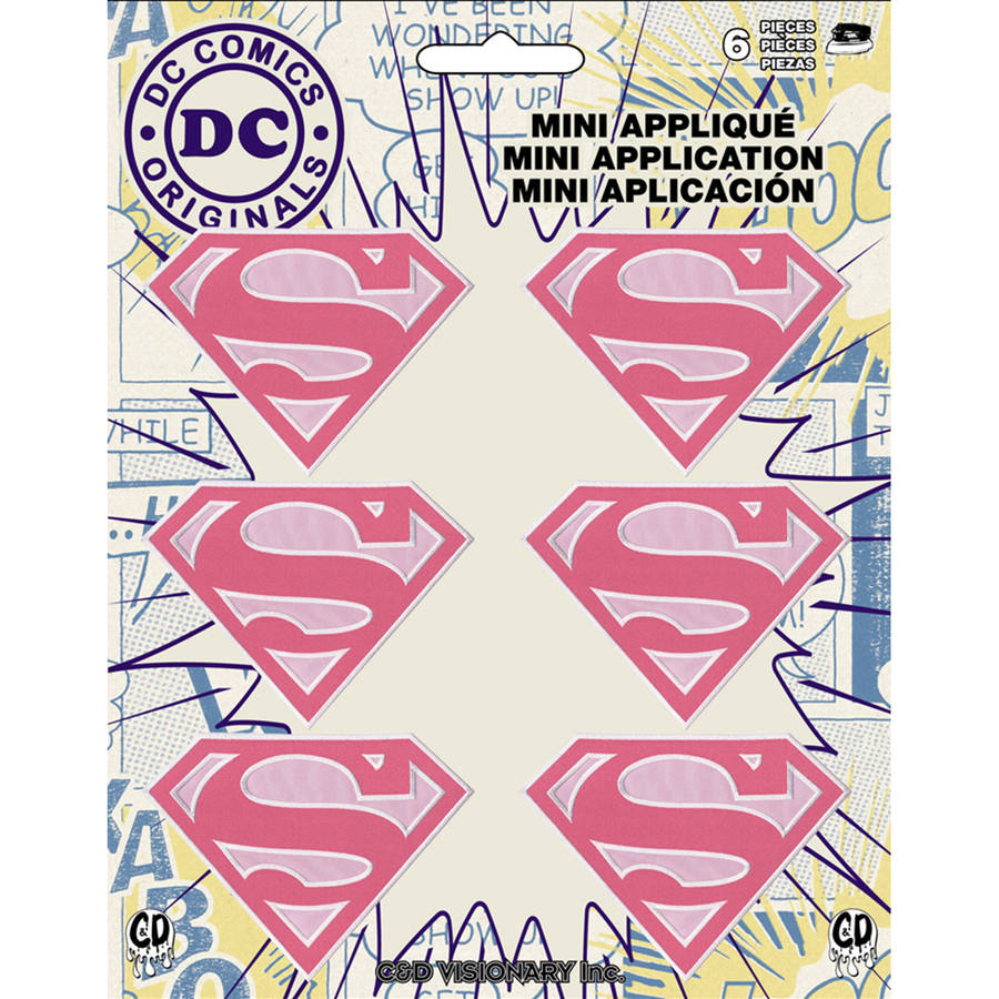 "DC Comics Patch, Supergirl, 2"" x 1.5"", 6pk"
