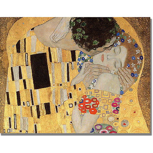 "Trademark Fine Art ""The Kiss"" Canvas Art by Gustav Klimt"