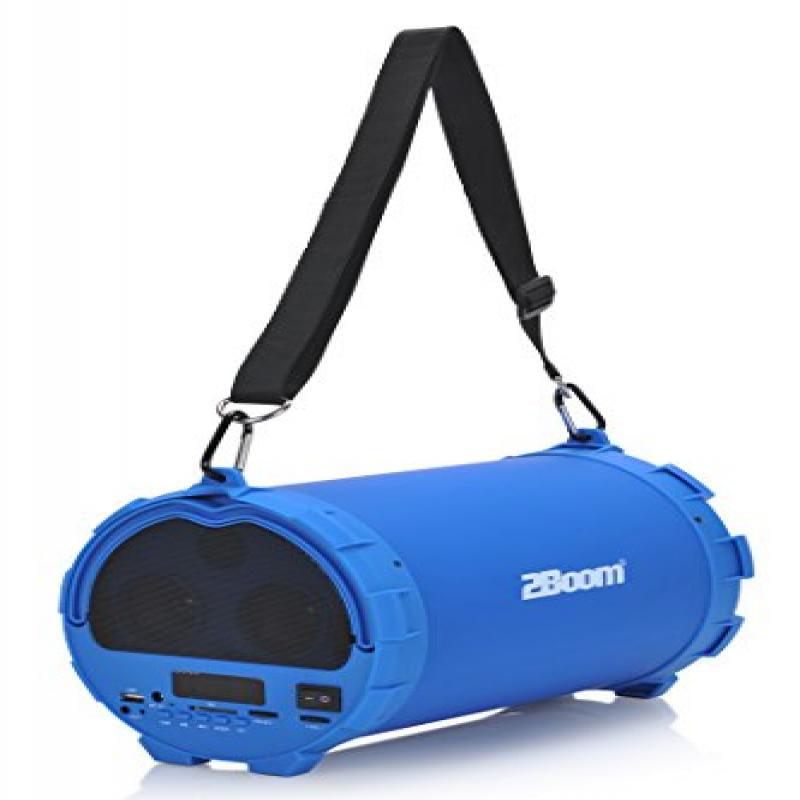 Image of 2boom Bx390b Bass King Rubberized Bluetooth Speaker (blue)
