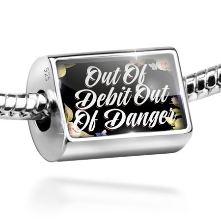 Bead Floral Border Out Of Debit Out Of Danger Charm Fits All European Bracelets