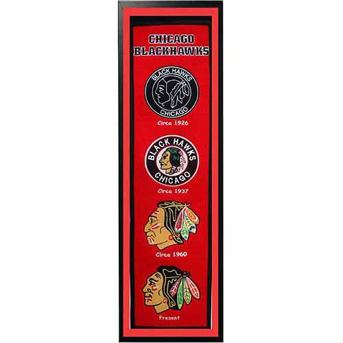 """NHL 14"""" x 37"""" Banner Frame, Chicago Blackhawks"""