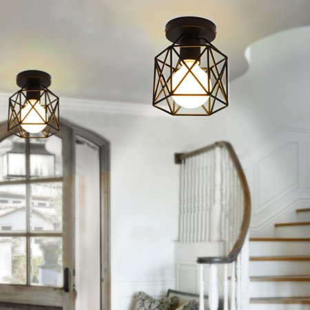 Vintage Cage Pendant Lamp Modern Hanging Lightweight Home Decorative Light Birdcage Ceiling Us Plug