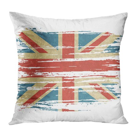 BOSDECO Blue Abstract Vintage of UK Grungy British Retro Great Britain Red Country Cross Culture Dirty England Pillow Case Pillow Cover 20x20 inch - image 1 de 1
