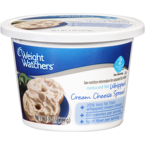Weight Watchers Reduced Fat Whipped Cream Cheese Spread 8 oz. Tub