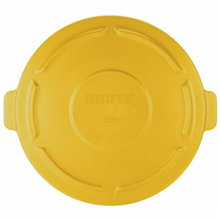 Rubbermaid Commercial Products  Flat Top Lid For 20 gal. Round Brute Container - Yellow - image 1 de 1