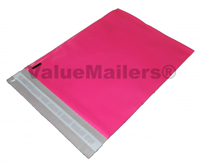 100 10x13 Pink Poly Mailers by ValueMailers by Flexicore Packaging®