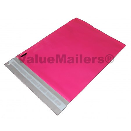 - 100 10x13 Pink Poly Mailers by ValueMailers
