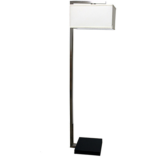 ORE International Floating Shade Modern Floor Lamp, Brushed Nickel/Espresso